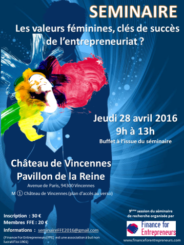 Séminaire annuel Finance for Entrepreneurs le 28 avril 2016